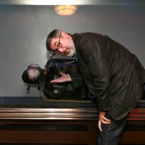 John Landis entrevistado no Cinema São Jorge, no festival de Cinema de Terror de Lisboa, set. 2009