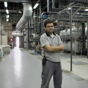 António Martins Pontes, 41. Chefe da equipa de manutenção Responsável pela Sala dos sistemas de filtração e gestão de tanques